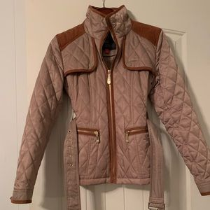 VINCE CAMUTO Womens Tan Quilted Jacket Coat